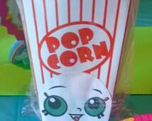 8 Shopkins Party Favor Boxes, Poppy Corn, Shopkins Birthday, Shopkins Theme, Shopkins Party Decor, Shopkins Party Favors, Favor Bags