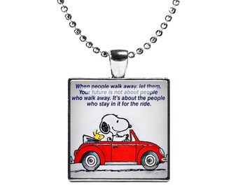 Snoopy and Woodstock Necklace Pendant Best Friends Fandom Jewelry Gift for best Friend