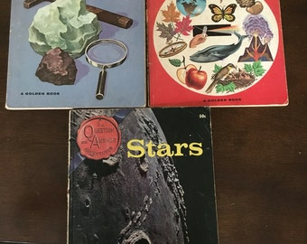 3 Vintage Question and Answer Adventure books