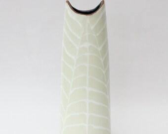 "50s vintage ceramic large Vase ""Fossil"" nr 4098. Designed by Mari Simmulson for Upsala Ekeby, Sweden Scandinavian."