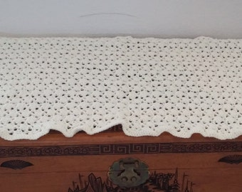 Pale Yellow Crocheted Blanket