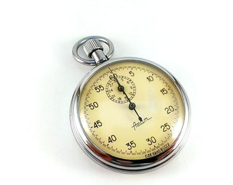 Vintage stopwatch Mechanical stopwatch Vintage watch USSR vintage pocket watch Russian watch Stop watch Chronometer Vintage gift for him