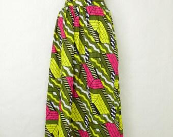 African print maxi skirt floor length sizes SM to 1x 2x 3x 4x 5x 6x