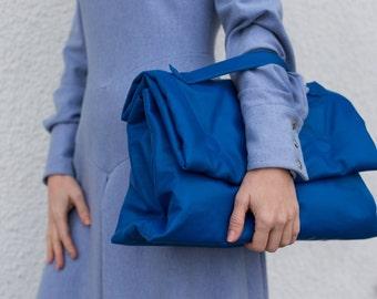 Leather briefcase women, Windblown, blue, business woman bag, woman's briefcase, genuine leather briefcase, briefcase, woman gift