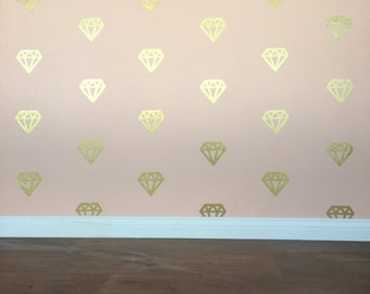 Diamond Wall Decals - Removable vinyl wall decals/stickers