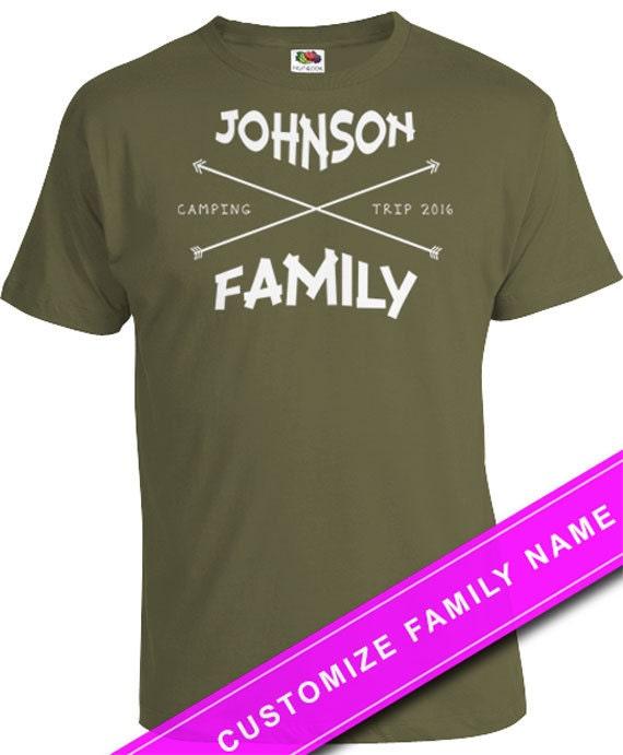 Camping T Shirt Personalized Shirts Family Reunion Shirts