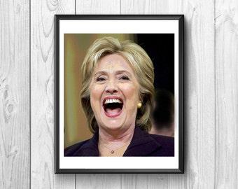 Hillary Clinton, Hillary Clinton posters Hillary Clinton print, wall poster, American Politics