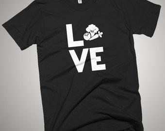Love Vegan Veggies T-Shirt Go Green Vegetarian