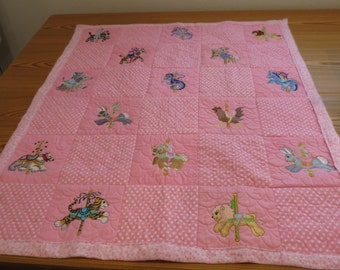 Carousel Animals Baby Quilt