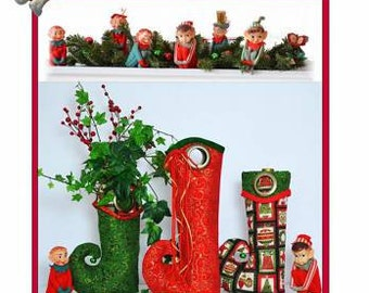 Holiday Cheers Elf Boot Wine Holder Gift and Tote Bag Pattern