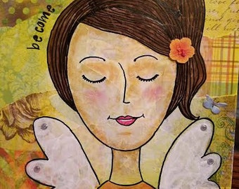 Mixed Media Angel Paintings inspired by Spirit
