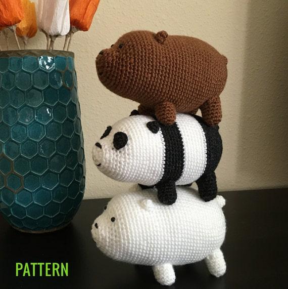 CROCHET PATTERN: We Bare Bears Inspired Bear by ...