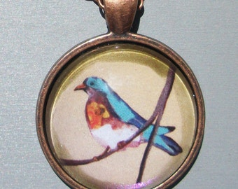 Blue Bird Pendant