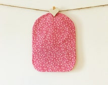 Ileostomy Bag Cover - Pink & White Flower Print