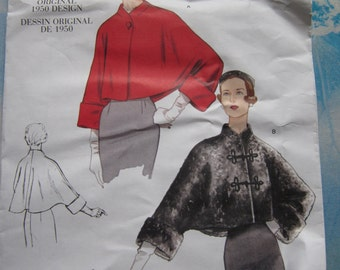 Vogue 2934 Vintage 1950 Reproduction Jacket Sewing Pattern One Size