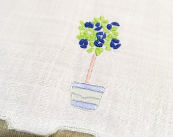 Items Similar To Vintage Hand Embroidered Linen Pouch