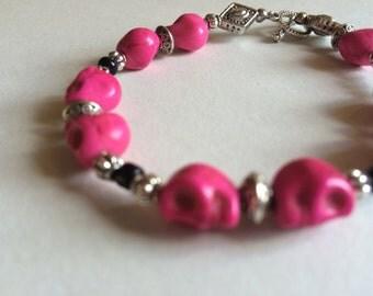 La Muerte in Pink Bracelet