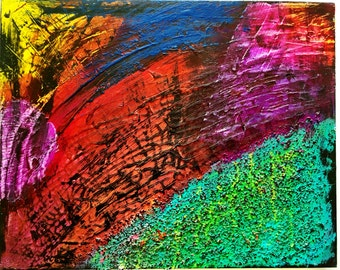 Abstract Original Acrylic Painting (title: Texture Time)