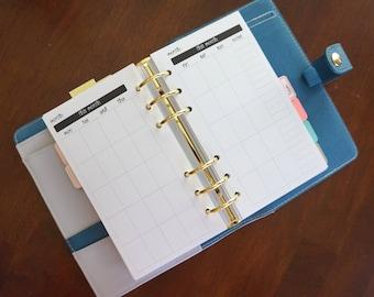 Monthly Calendar Planner Inserts (undated)