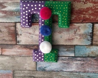 Home Decor Wooden Letter T , Wall Decor , Nursery Decor Letter T   , Wall Handing Letter T ,Kids Room Decor Letter T  ,Wood Name Letter