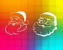 santa claus face design, christmas svg and dxf Cut Files, diy Files, Silhouette Cameo, Cricut explore, instant download, digital files svg