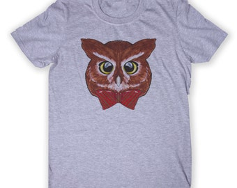 Funny Owl Face Tee Hipster Wise Owl Animal Lover Graphic T-shirt