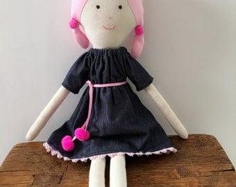 Fabric Rag Doll   Handmade Doll   Cloth Doll   Cute Doll   Girl Doll