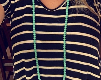 Double Wrap Choker Necklace - TEAL