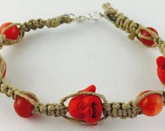 Buddha hemp bracelet
