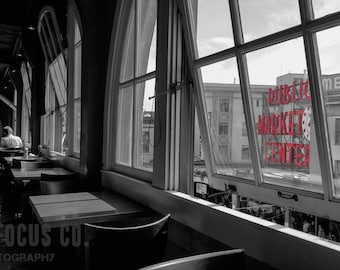 Through the Window - Pike Place Market, Rustic Landscape Photography, Fine Art Photography, Landscape Print