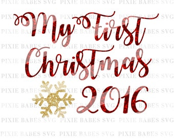 My First Christmas SVG, Baby's First Christmas SVG, Holiday SVG, 1st Christmas svg, cuttables, svg files, Cricut, Silhouette, Cutting Files