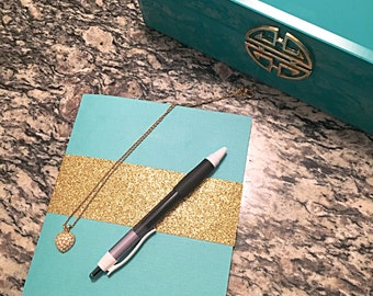 Hand-bound Blank Page Tiffany Notebook