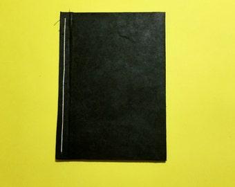 Lightweight Handmade Sketchbook: Black and Green
