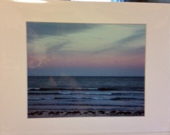 11x14 Matted Colorful Sunset Photo