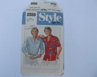 Pattern style 33358 mens shirt size 46-48 unused