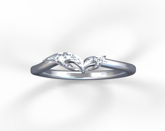 """Stackable diamond """"Butterfly Miniature"""" ring"""