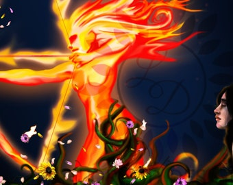 The Fire Within Digital Painting artwork illustration 25x13