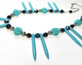 "Turquoise Statement Necklace ""The Twelve"""