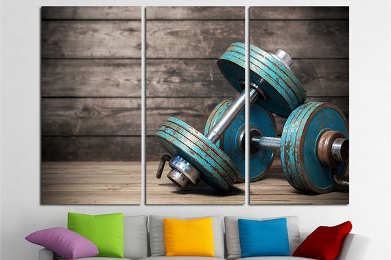 Wall Art For A Home Gym : Gym wall art decor home