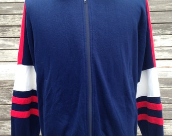 Vintage 80s 90s Sportswear track jacket full zip - medium / large
