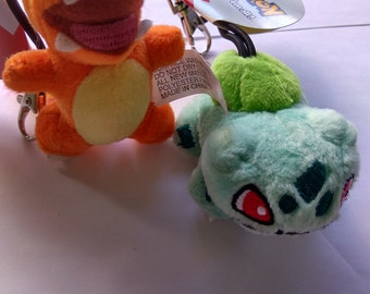 Original Pokemon Pikachu,Charmander,Bulbasaur plush toy keychain