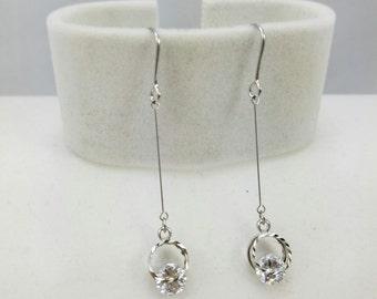 Simple Elegant Light weight Silver Drop Earrings