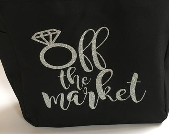 Totes Engaged, Engaged Tote, Engaged Bag, Engagement Tote, Wedding Tote, Wedding Bag, Engagement Gift, Engagement Gift Tote