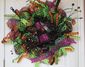 Halloween Deco Mesh Wreath