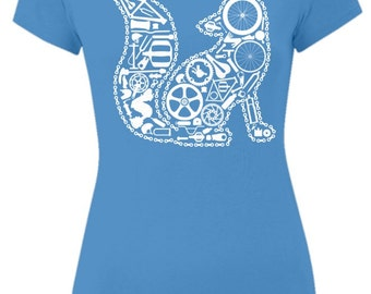 Blue Chain Fox T-Shirt
