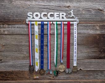 """Medal Hanger / Medal Rack - """"Soccer"""" (boys)"""