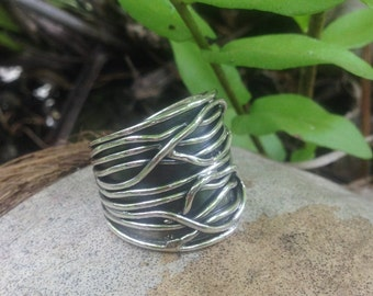 Silver Balinese Ring - Size 9