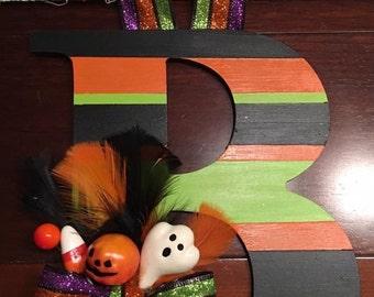 Halloween Initial Door Decor