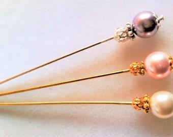 Swarovski Pearl Stick/Hijab/Hat/Lapel Pin