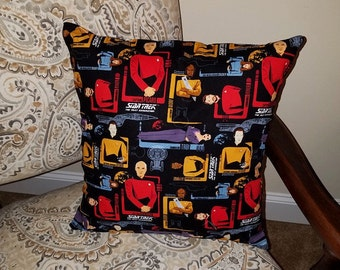"Star Trek the Next Generation Crew 16"" x 16"" Decorative Throw Pillow (with Insert)"